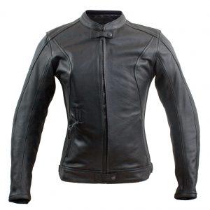 Xena. Klassisk læderjakke til kvinder med integreret airbag. Maksimal beskyttelse uden at gå ned på stil!